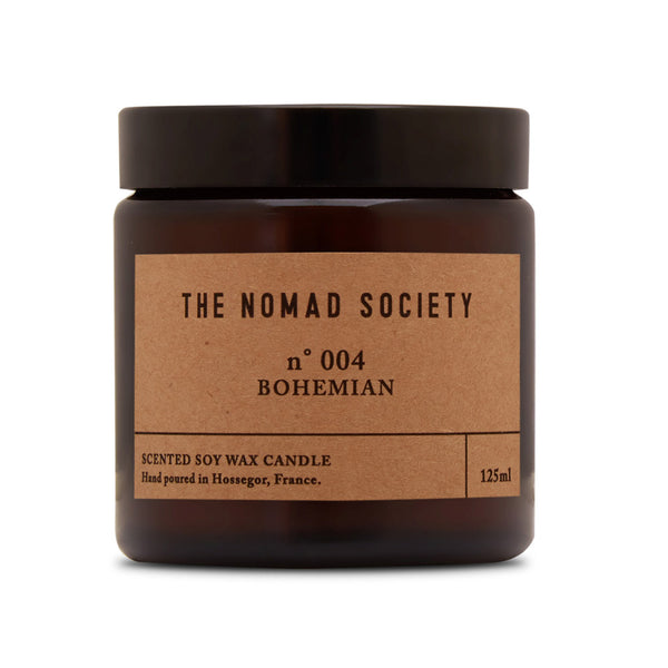 Bohemian soy wax candle hand poured The Nomad Society