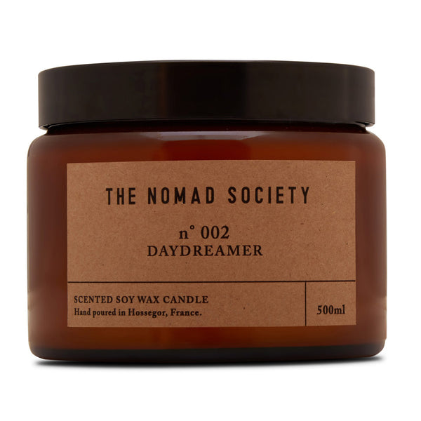 Daydreamer coconut vegan candle The Nomad Society 500ml