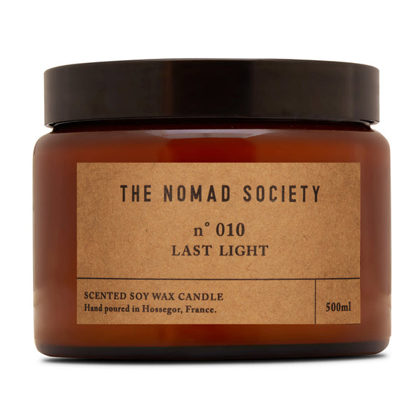 Last Light black pepper soy wax vegan candle The Nomad Society 500ml