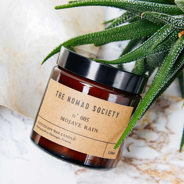 Mojave Rain soy wax vegan candle The Nomad Society 120ml