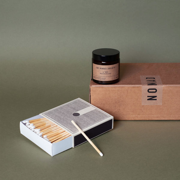 Soy wax vegan candle & luxury letterpress match box Giftbox
