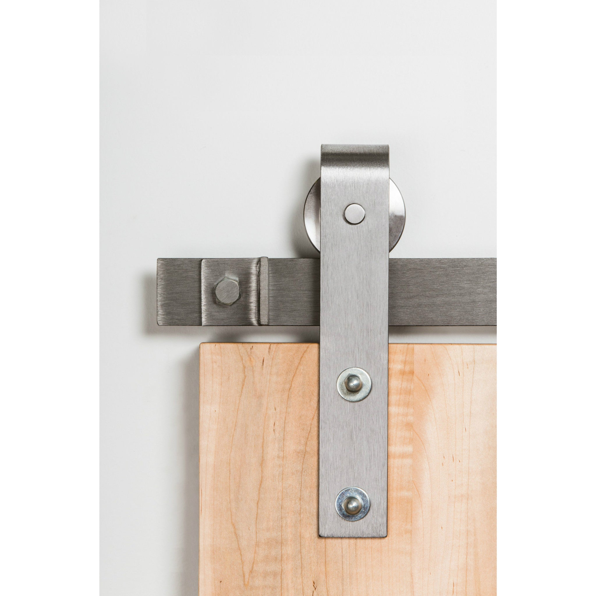 leatherneck kit hangers barns track door hardware with brushed nickel products barnware flat barn kits straight doors