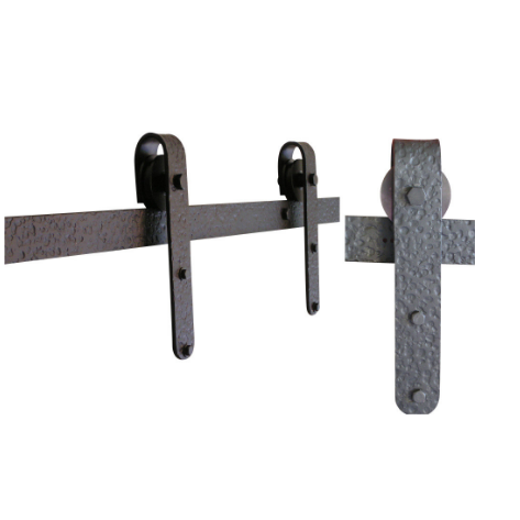 Agave Ironworks Flat Track Barn Door Hardware Kit -Distressed Designer | Barnware Doors