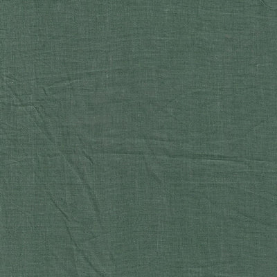 Belgian Linen 5 Piece Ruffled Bed In A Bag Duvet Cover & Sheet Set 12 Colors - Twin / Forest Green