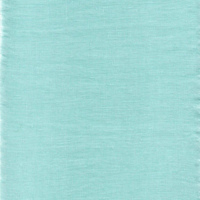 Belgian Linen 5 Piece Ruffled Bed In A Bag Duvet Cover & Sheet Set 12 Colors - Twin / Tiffany Blue