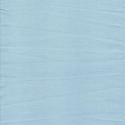 Belgian Linen Bedskirt Short Or Long Ruffled Flouncing In 12 Colors - Queen / Sky Blue