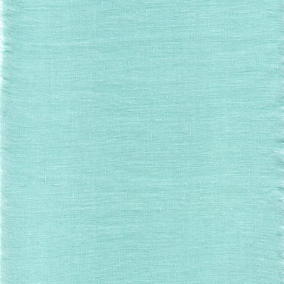 Belgian Linen Bedskirt Short Or Long Ruffled Flouncing In 12 Colors - Queen / Tiffany Blue