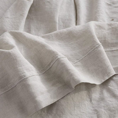 Belgian Linen Embroidered Sheets 4 Piece Set In 5 Colors