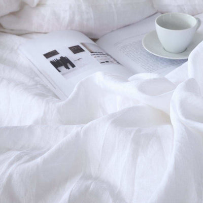 Belgian Linen Simple Duvet Cover 3 Piece Set in 14 Colors | Flaxlinens