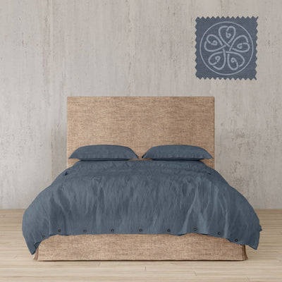 Belgian Linen Simple Duvet Cover 3 Piece Set In 12 Colors - Full / Dark Gray