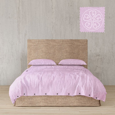 Belgian Linen Simple Duvet Cover 3 Piece Set In 12 Colors - Full / Dusty Pink