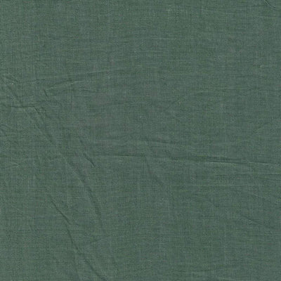 Belgian Linen Simple Fitted Sheet 3 Piece Set In 12 Colors - Twin / Forest Green