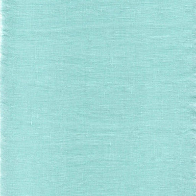 Belgian Linen Simple Fitted Sheet 3 Piece Set In 12 Colors - Twin / Tiffany Blue