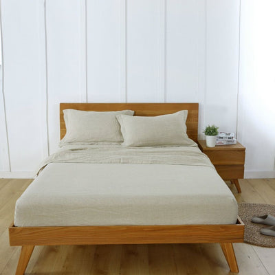 Belgian Linen Simple Sheets 4 Piece Set In 12 Colors All Sizes | flaxlinens.com