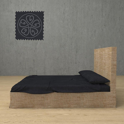 Belgian Linen Simple Sheets 4 Piece Set in 12 Colors All Sizes - Twin / Dark Gray