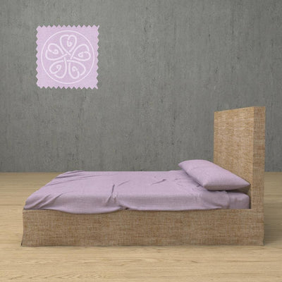 Belgian Linen Simple Sheets 4 Piece Set in 12 Colors All Sizes - Twin / Dusty Pink