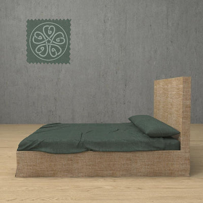 Belgian Linen Simple Sheets 4 Piece Set in 12 Colors All Sizes - Twin / Forest Green