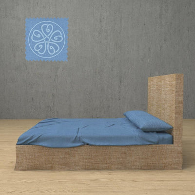Belgian Linen Simple Sheets 4 Piece Set in 12 Colors All Sizes - Twin / Indigo Blue