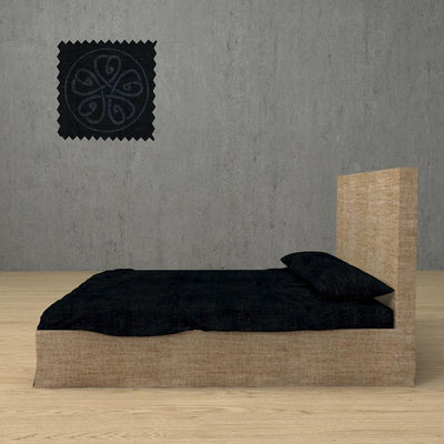 Belgian Linen Simple Sheets 4 Piece Set in 12 Colors All Sizes - Twin / Midnight Black