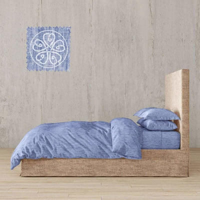 Chambray Linen Bed In A Bag 5 Piece Simple Duvet Cover & Sheets Set 11 Colors - Twin / Rouen River