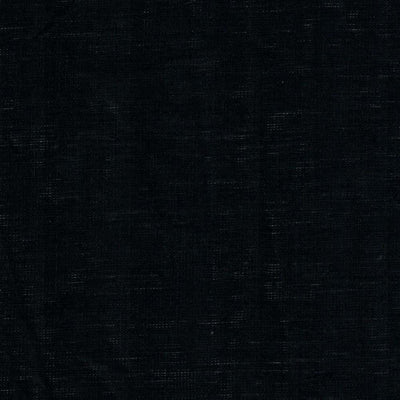 Single Organic Belgian Linen Stonewashed Fitted Sheet In 12 Colors - Midnight Black / Twin