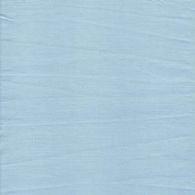Single Organic Belgian Linen Stonewashed Fitted Sheet In 12 Colors - Sky Blue / King