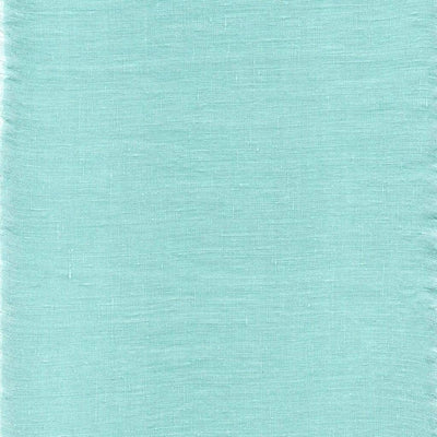Single Organic Belgian Linen Stonewashed Fitted Sheet In 12 Colors - Tiffany Blue / King