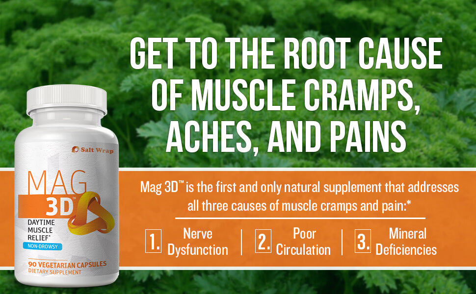 Mag 3D natural cramp relief supplement - non-drowsy formula