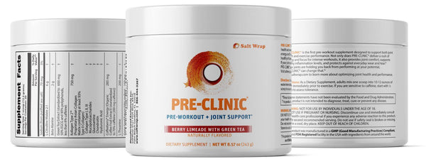 Pre-Clinic pre-workout supplement for joints