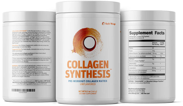 Collagen Synthesis pre workout collagen peptides from saltwrap