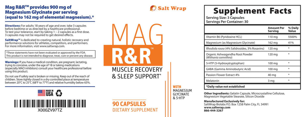 Mag R&R Supplement Facts and Ingredients