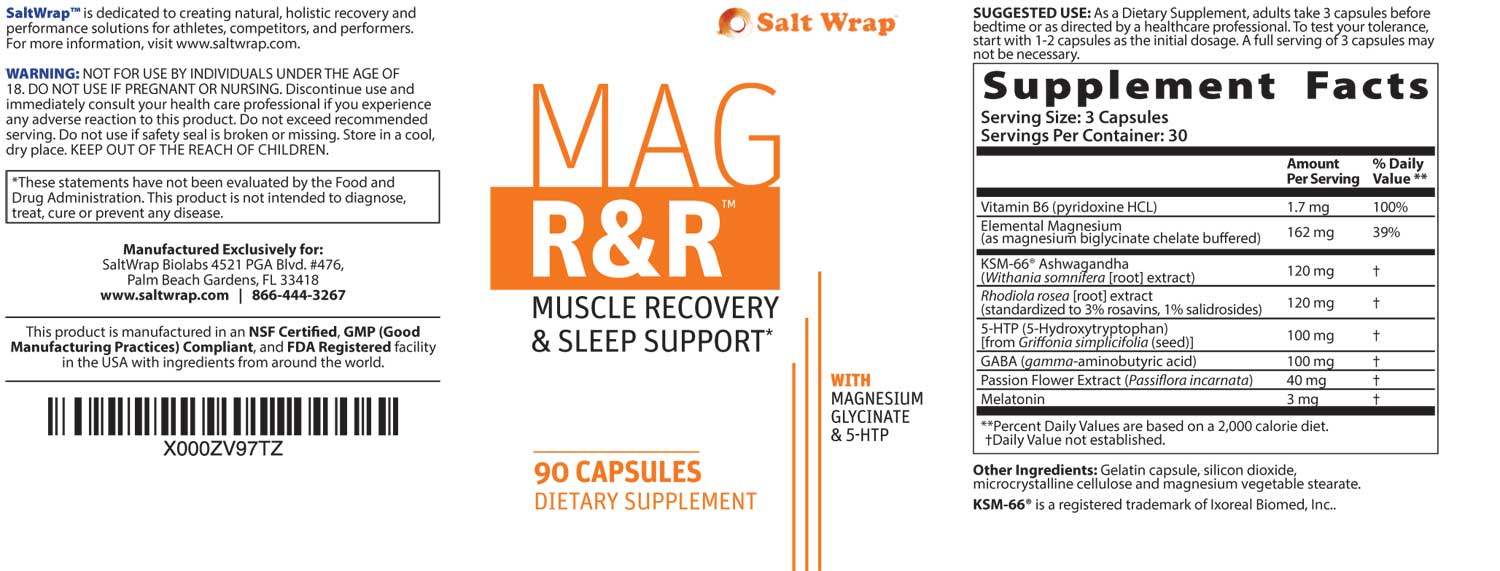 Mag R&R ingredients supplement facts image