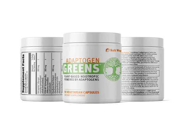 Adaptogen Greens Caffeine Free Nootropic Natural Ingredients for Energy