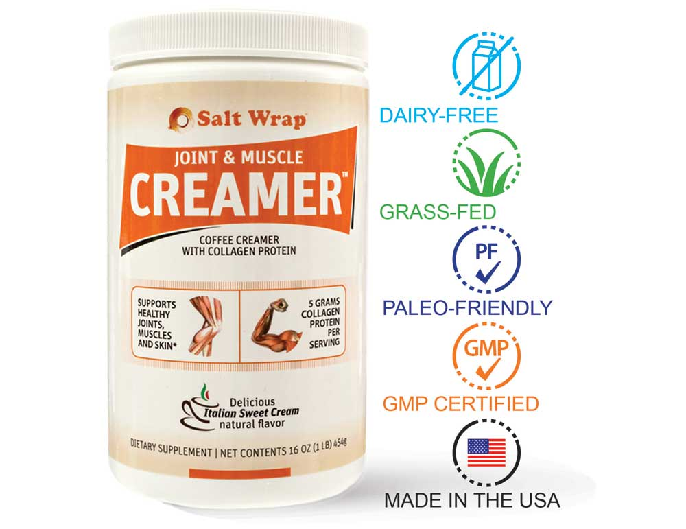 paleo friendly collagen creamer with coconut milk