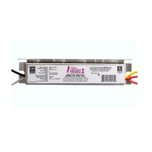 Fulham Instant Start Electronic Fluorescent WorkHorse Ballast for (1-2) 35W Max Lamps Operated at 277V (WH2-277-L)