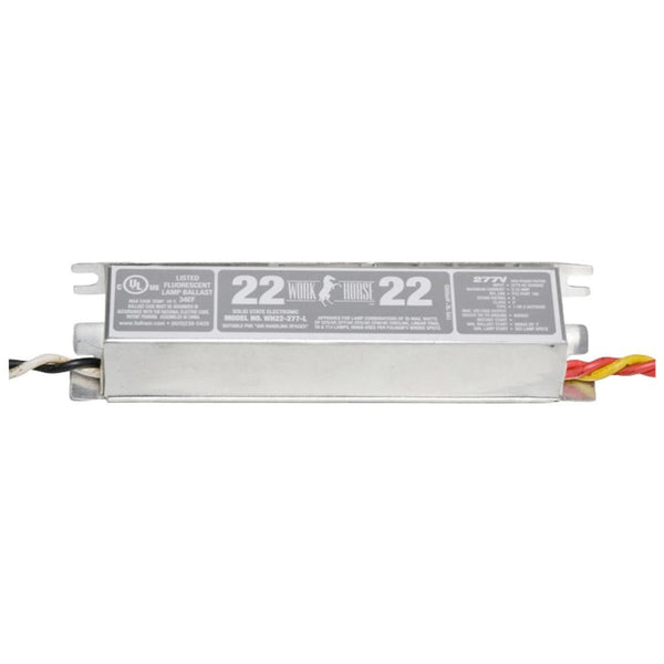 Fulham Instant Start Electronic Fluorescent WorkHorse Ballast for (2) 70W Max Lamps Operated at 277V (WH4-277-L)