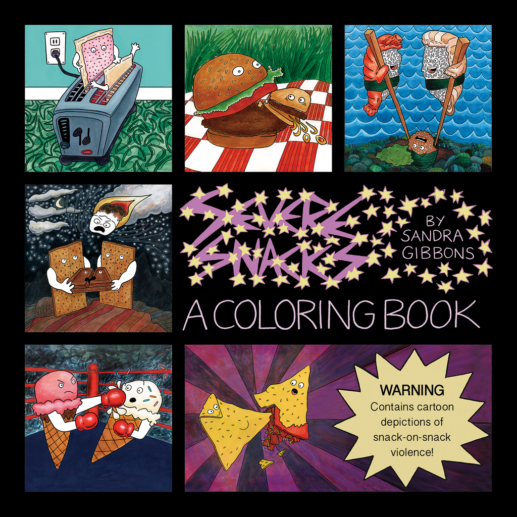 Sharpen your pencils! Severe Snacks- A Coloring Book is almost here