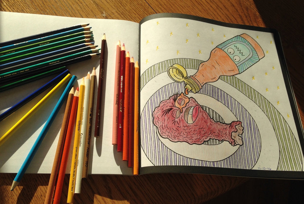 You're invited to the Severe Snacks Coloring Book Release Party