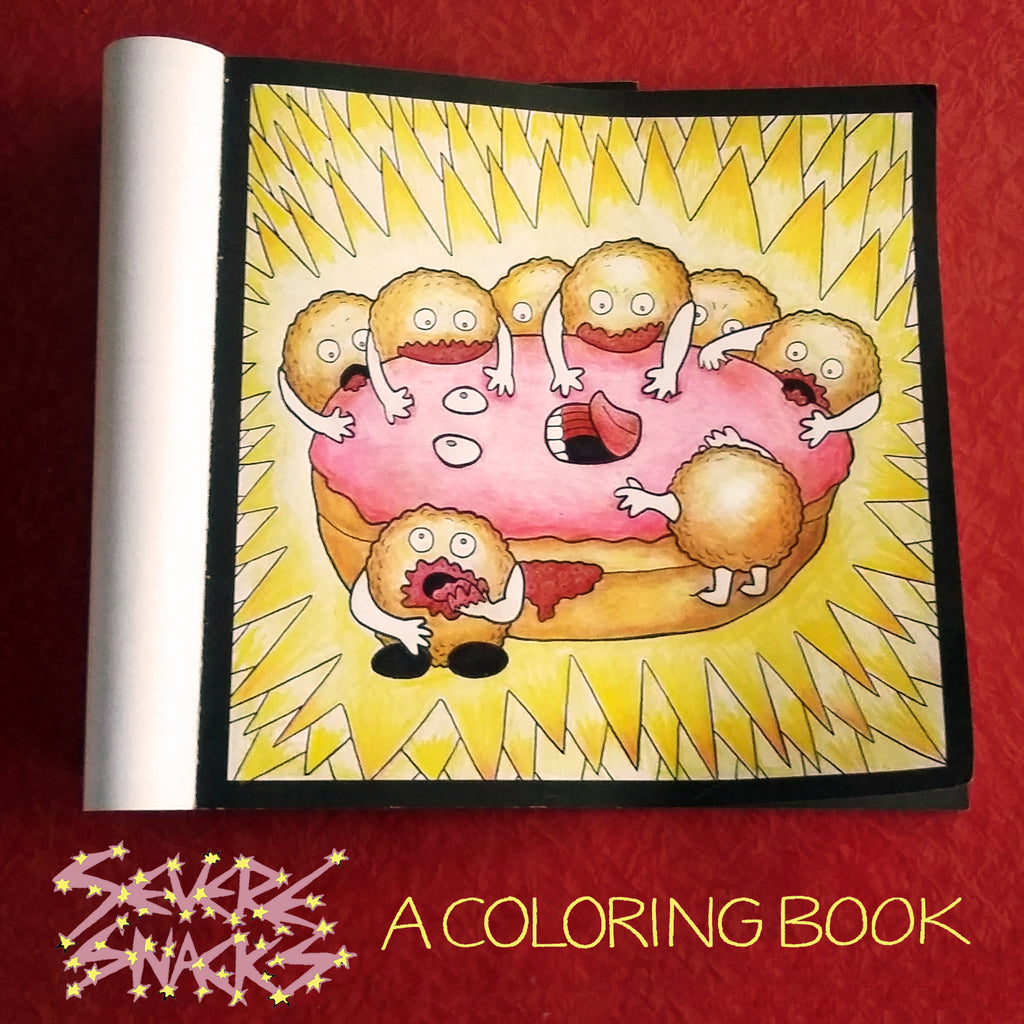 Severe Snacks Coloring Book Zombie donuts