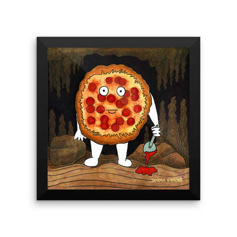 Killer Pizza Framed Print - Severe Snacks