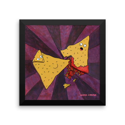 Chip Kick Framed Print - Severe Snacks