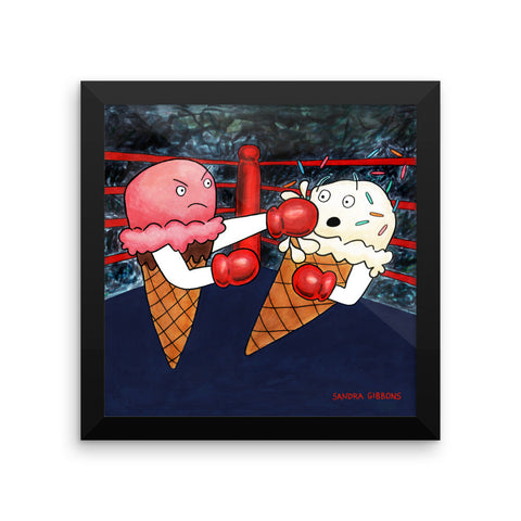 Knockout! Framed Print - Severe Snacks