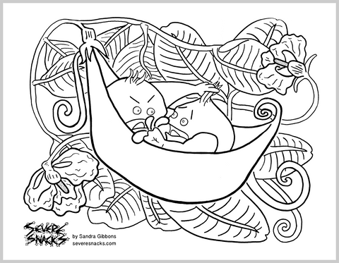 Peas in a Pod Free Coloring Page - Severe Snacks