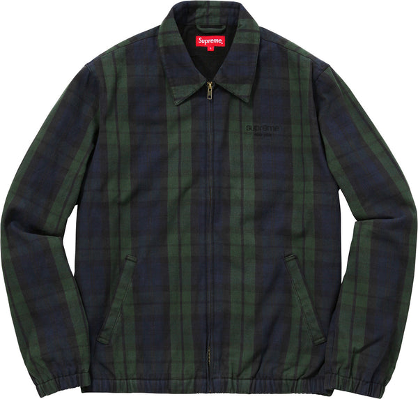 Plaid Denim Harrington