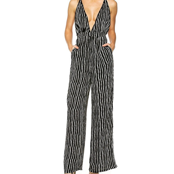Too Cute for Jail Striped Jumpsuit