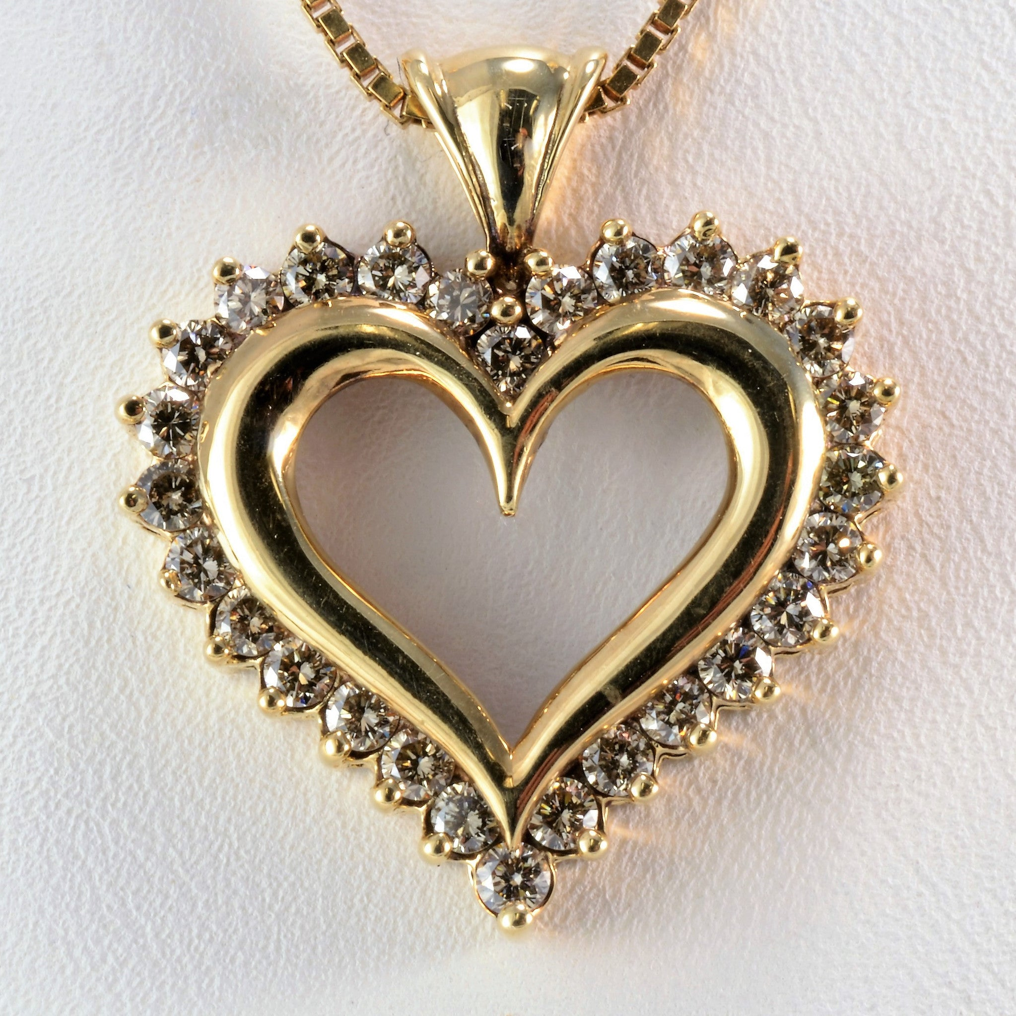 Diamond Accented Heart Necklace | 1.00 ctw, 22"