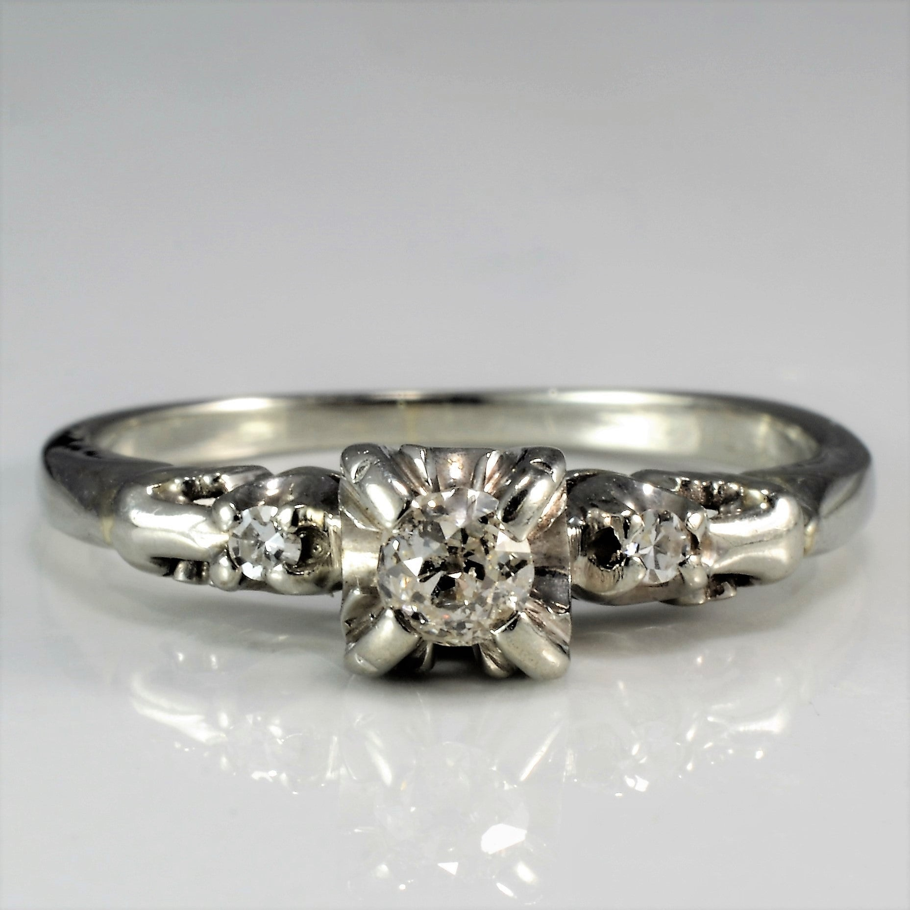 old art cut european rings erie ring basin engagement diamond deco