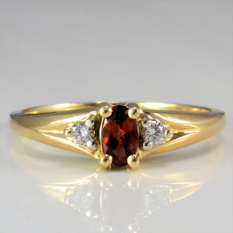 Birks Diamond & Garnet Ring | 0.06 ctw, SZ 6.75 |