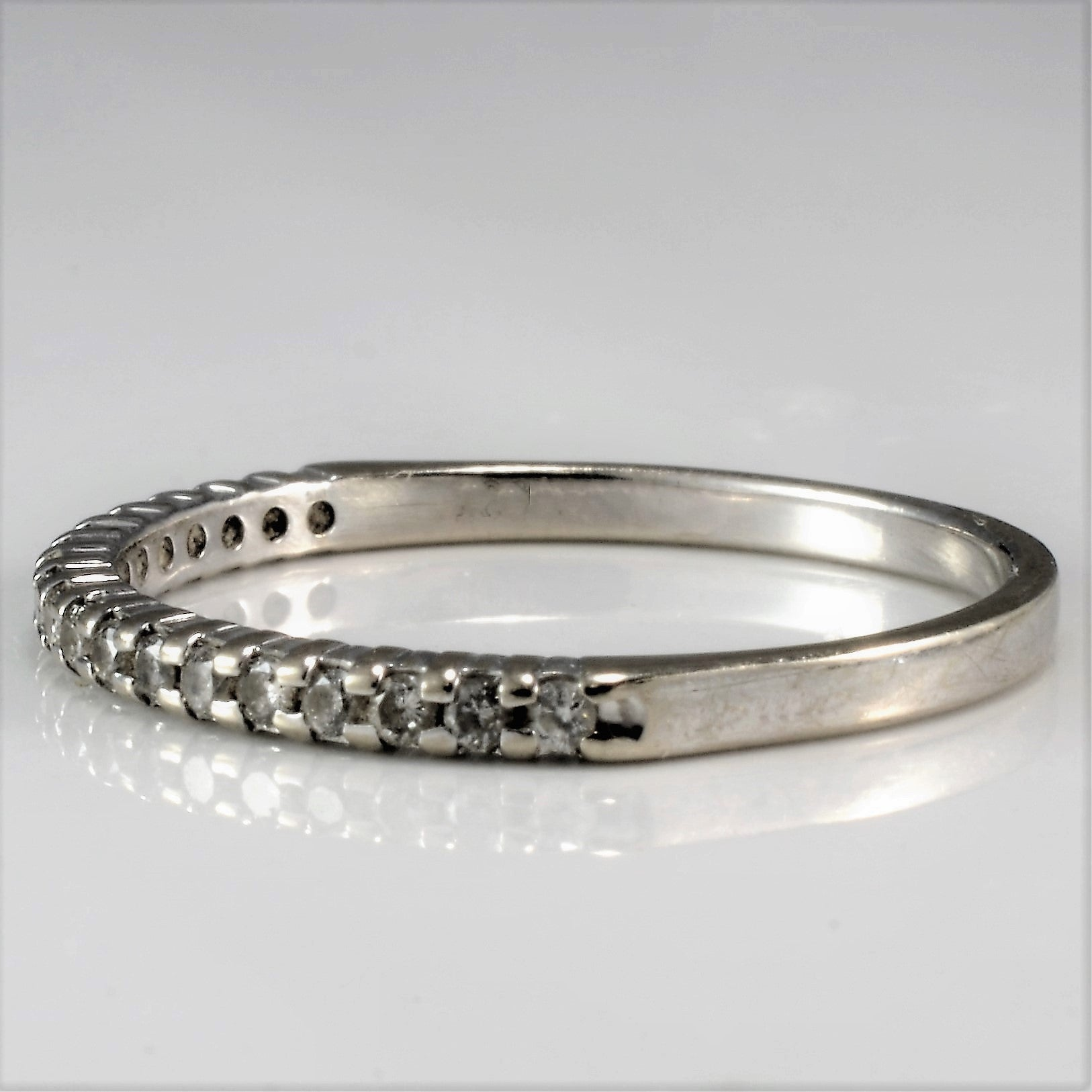 Simple Diamond Stacking Band | 0.10 ctw, SZ 5.75 |