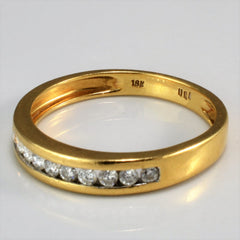 Channel Set Diamond Flat Band | 0.30 ctw, SZ 8 |